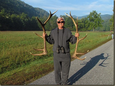 Al with elk antlers