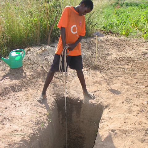 The family dug a well, so that they can get ground water when they need it.