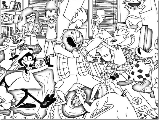 Harlem Shake Coloring Pages
