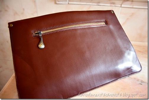 oasap envelope clutch coffee