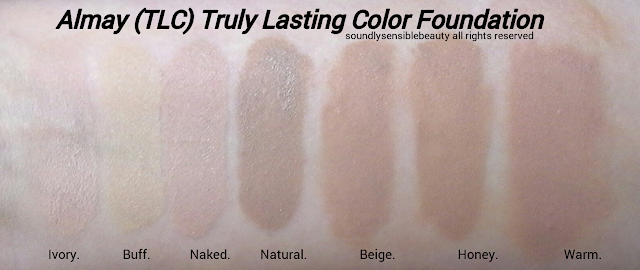 Almay Truly Lasting Color Liquid Makeup Review & Swatches of Shades