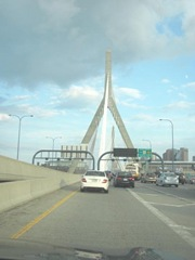 8.8.11 VT trip..zakim bridge heading into Boston