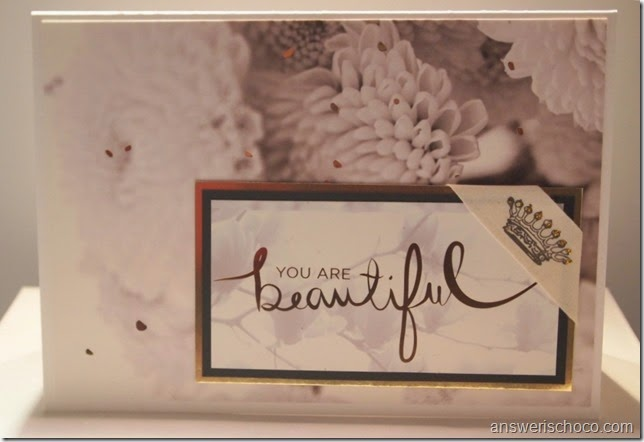 DCWV Decor Noir Beautiful Card