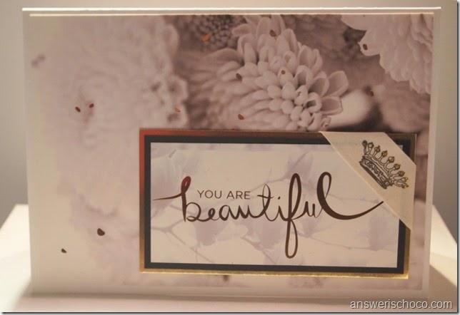 DCWV Decor Noir Beautiful Card