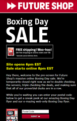 "Future Shop: ""Boxing Day"" starts on Christmas Eve?!?"