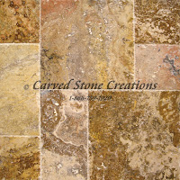 Paver - Std. Versailles Pattern Travertine Set Scabos 3cm