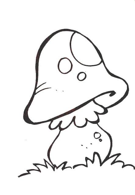 Laminas con setas para pintar - Pintar bano con hongos ...