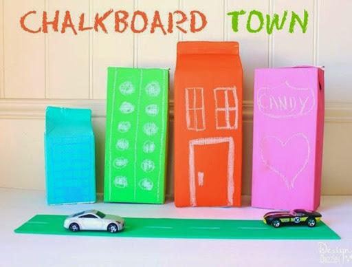 chalkboard town