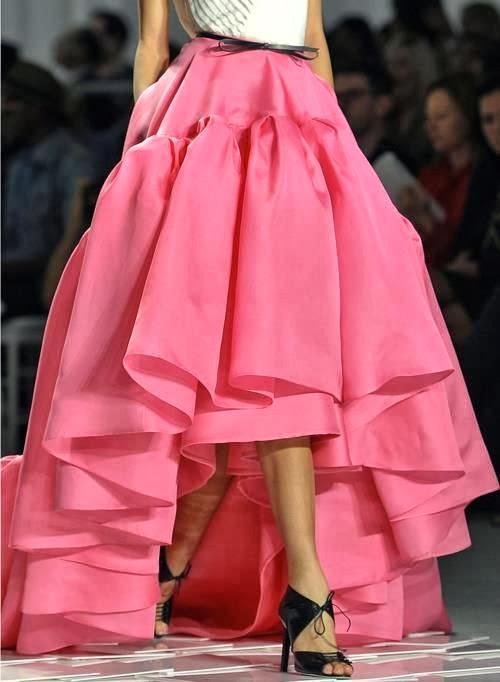 pink oscar de la renta