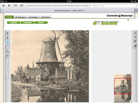 Viewer archief Wassenaar op tablet