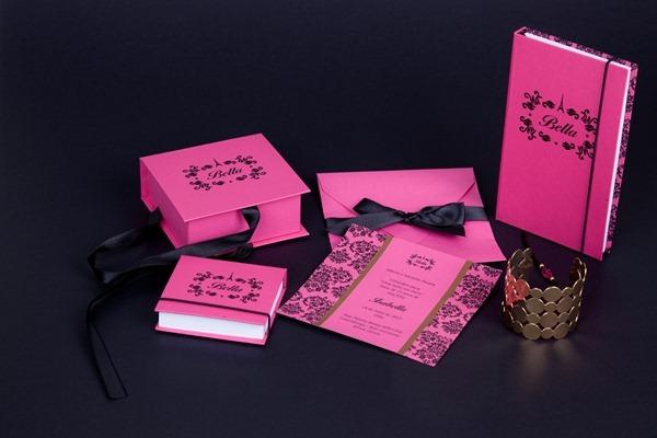 bella convite aniversário personalizado lembrancinha paris preto e rosa IMG_3845 (9)