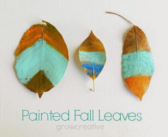 painted leaves for fall #thanksgiving