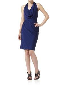 Cowl Neck Short Dress