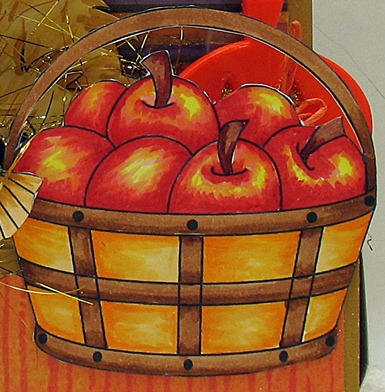 fall into autunm apples close up