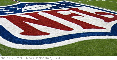 'nfl_logo_on_field' photo (c) 2012, NFL News Desk Admin - license: http://creativecommons.org/licenses/by-nd/2.0/
