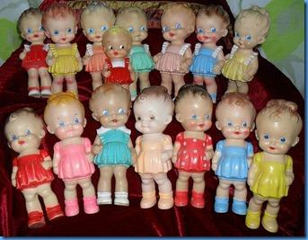 Ruth E Newton squeaker dolls