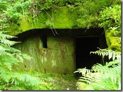 Cueva labrada en la pista del Batán