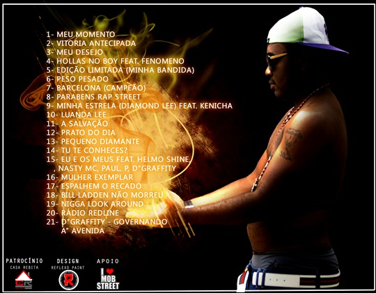 Diamond Lee - Mixtape 'A Riqueza de Angola' (Capa Back)