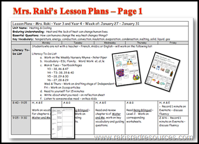 Multi-age lesson plans in a differentiated, project based, flipped classroom - Heidi Raki of Raki's Rad Resources.