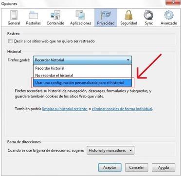 Eliminar historial de Firefox automáticamente