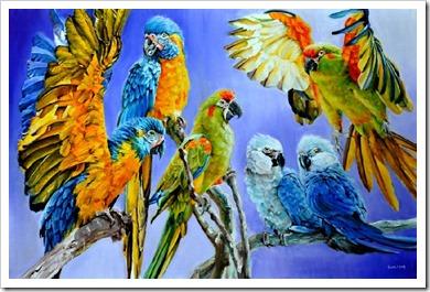 vera cauwenberghs bird painting