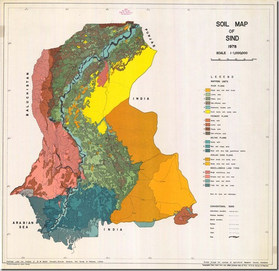 Soil Map of sindh