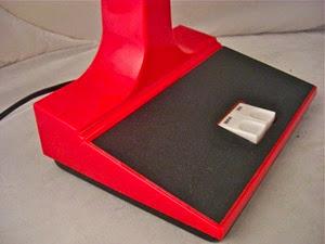 red Mobilite desk lamp base
