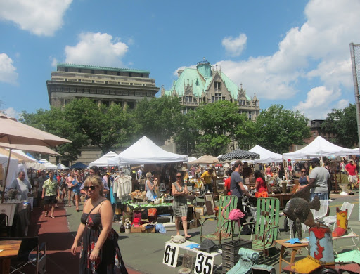 Here's a wider view of the flea market.