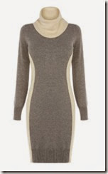 Oasis Grey Colourblock Sweater Dress