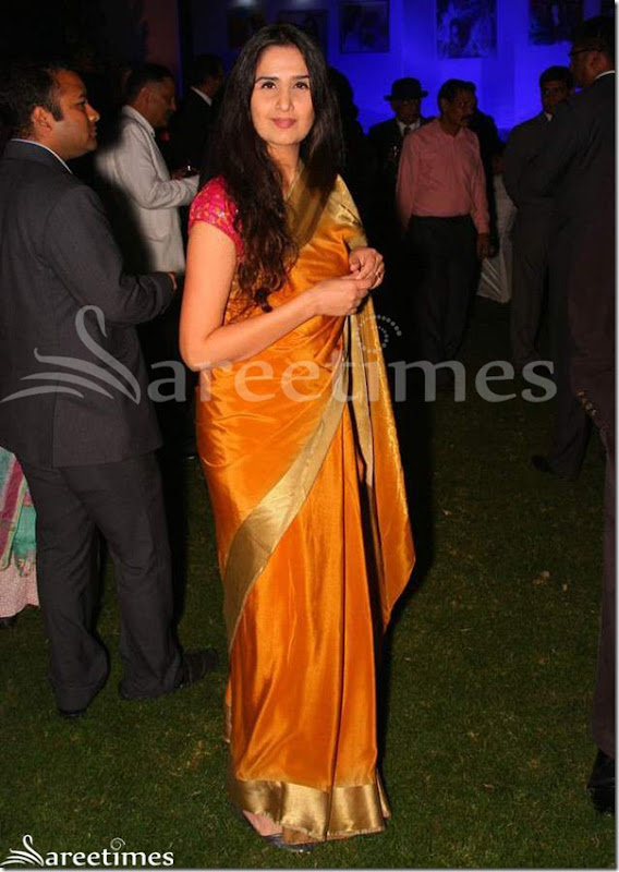 Monisha_Bajaj_Orange_Saree