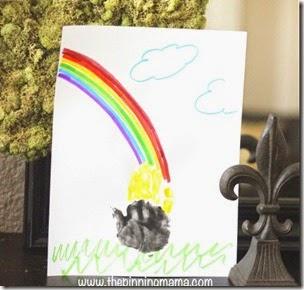 st. patricks day rainbow hand craft