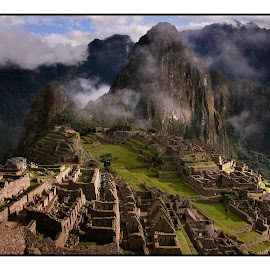 Postcard Machu Picchu01 by Guy Gillade - City,  Street & Park  Historic Districts ( machu picchu )