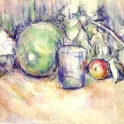 Paul Cezanne (1902-1906): Still Life with Green Melon. Colección Privada. Postimpresionismo