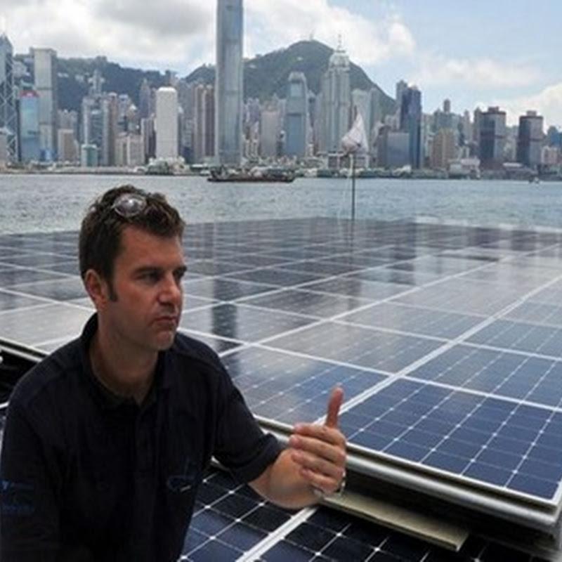 El Barco que funciona con energía solar mediante la instalación de paneles construido en Alemania