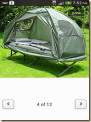the tent cot