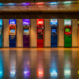 Bano of ATM's. by John Greene - Digital Art Things ( bangkok, atm, train station, hualamphong train station, hua, john greene )