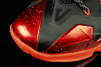 nike lebron 11 gr black red 1 08 New Photos // Nike LeBron XI Miami Heat (616175 001)