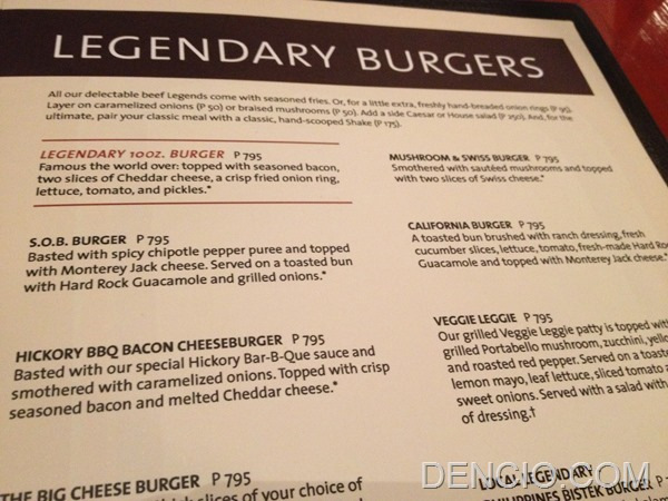 Hard Rock Cafe Makati Menu Prices 12