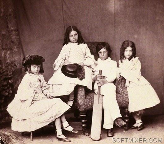 NPG P991(7); Alice Liddell; Ina Liddell; Harry Liddell; Edith Mary Liddell