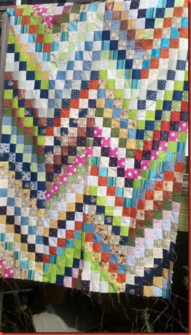 bargello quilt top