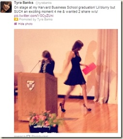 tyra banks graduation from harvard school of business