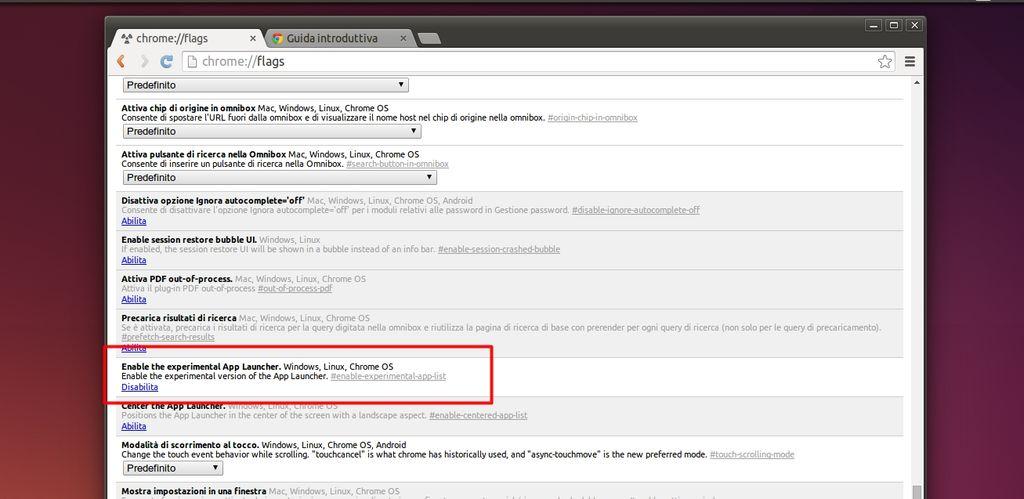 Chrome App Launcher - attivazione in Ubuntu Linux
