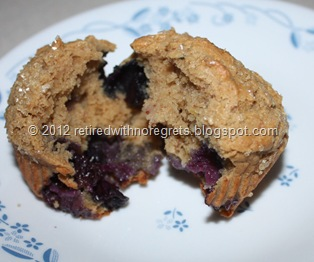 Lemon Blueberry Muffins - sampling