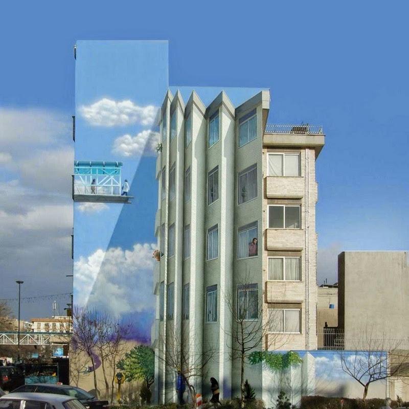Mehdi Ghadyanloo's Playful Street Art in Tehran