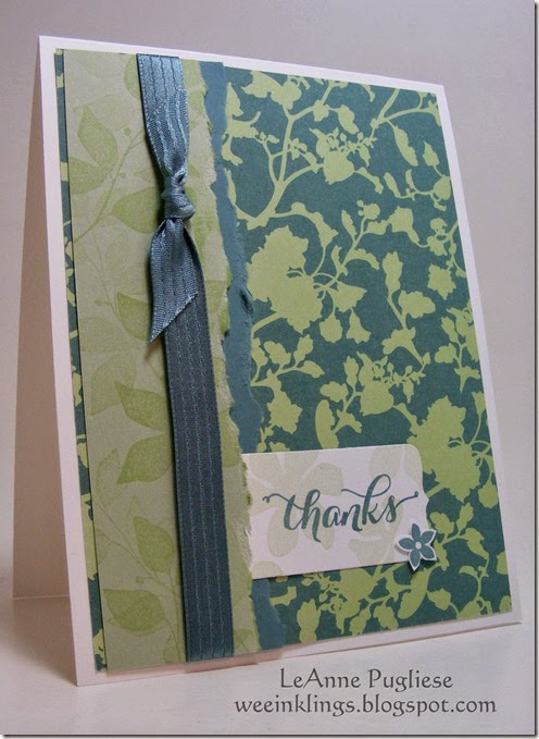 LeAnne Pugliese WeeInklings Summer Silhouettes Thank You Stampin Up