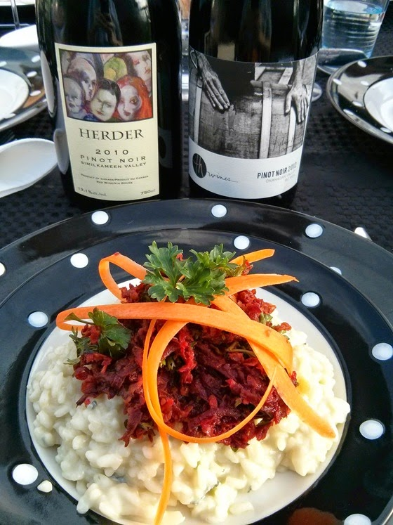 Blue Cheese Risotto & Beet Salad with Herder 2010 and Tyler Harlton 2012 Pinot Noirs