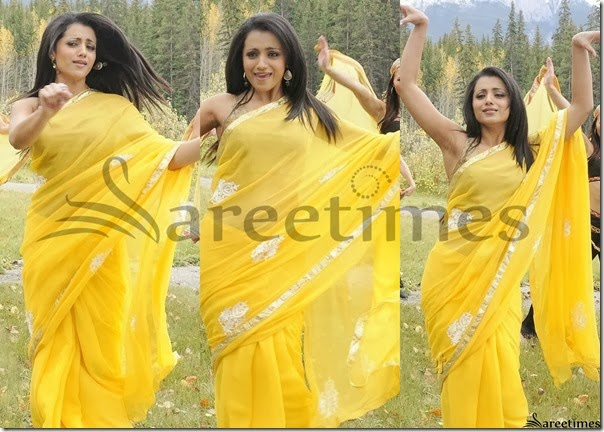 Trisha_Yellow_Georgette_Saree