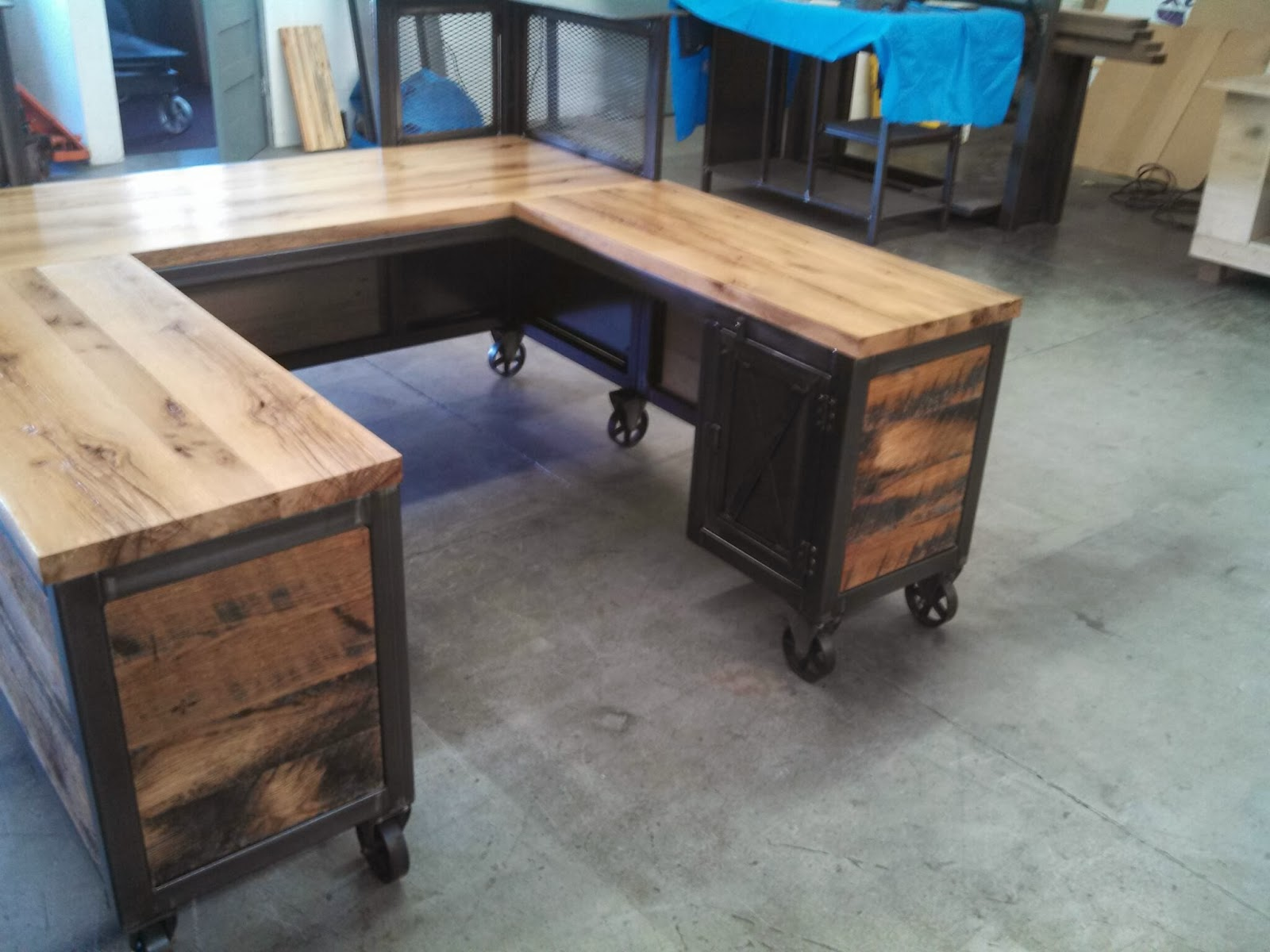 Real Industrial Edge Furniture llc: Industrial reception desk.