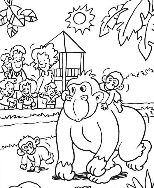 Lujoso Hojas Para Colorear Zoo Friso - Dibujos de Animales para ...