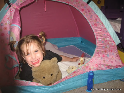 Sensory Overwhelm? Our solution - tent in the bedroom.